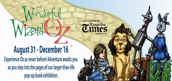 Walk through the books of Oz as illustrated by WW Denslow in this interactive exhibit created by Great Explorations Children's Museum in St. Petersburg, Florida